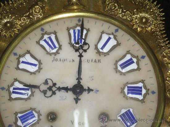 Relojes de pared: EXCEPCIONAL RELOJ MOREZ - JOAQUIN AGUIAR - VIGO - VER FOTOS. - Foto 7 - 24558266