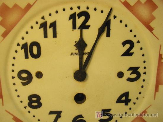 Relojes de pared: RELOJ DE PARED JUNGHANS ART-DECO - Foto 4 - 27582365