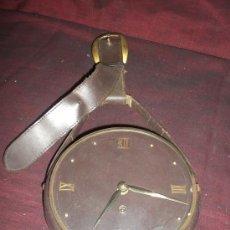Relojes de pared: BONITO Y DECORATIVO RELOJ DE PARED EN PIEL.. Lote 150935438