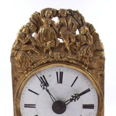 Relojes de pared: RELOJ TIPO MOREZ DE UNA CAMPANA. SIN PESOS NI PÉNDULO NI TAPAS LATERALES, .. Lote 22188944