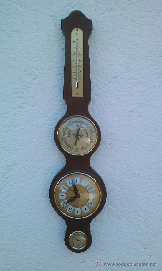 Reloj barometro termometro comprar relojes antiguos de - Termometro de pared ...