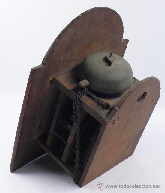 Relojes de pared: Reloj tipo ratera, de una campana. - Foto 2 - 21628574