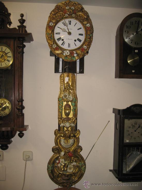 RELOJ MOREZ - PENDULO DECORADO . (Relojes - Pared Carga Manual)