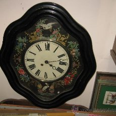 Relojes de pared: RELOJ OJO DE BUEY - PINTADO A MANO. MÁQUINA PARIS.FUNCIONANDO. Lote 26907229