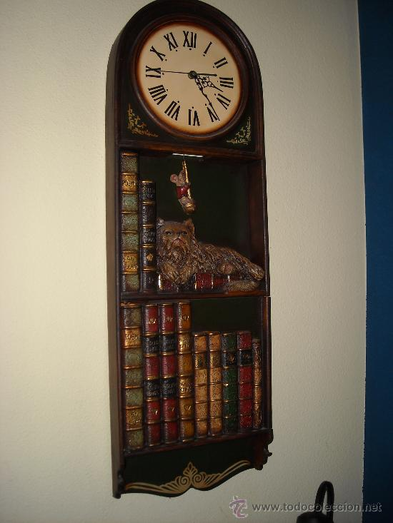RELOJ DE PARED DE MADERA, (Relojes - Pared Carga Manual)
