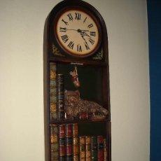 Relojes de pared: RELOJ DE PARED DE MADERA,. Lote 27306567