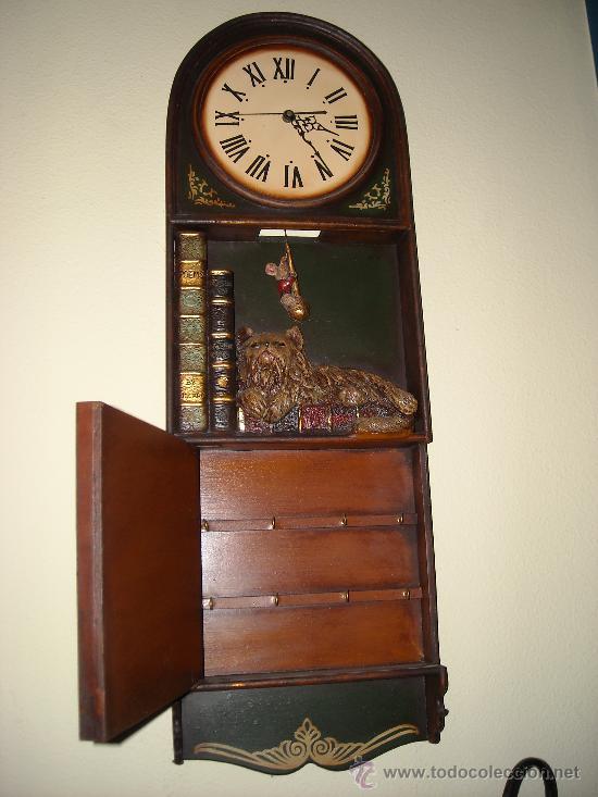 Relojes de pared: reloj de pared de madera, - Foto 2 - 27306567