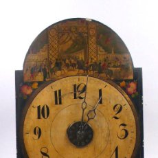 Relojes de pared: RELOJ TIPO RATERA DE 2 CAMPANAS, CARÁTULA DE GRAN TAMAÑO, CON PÉNDULO, .. Lote 23606016
