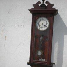 Relojes de pared: RELOJ DE PARED EN CAOBA ESTILI INPERIO. Lote 25194617