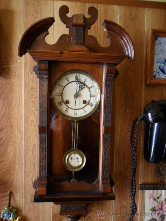 Reloj ingl s de pared antiguo comprar relojes antiguos de pared carga manual en todocoleccion - Relojes pared antiguos ...