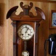 Relojes de pared: RELOJ INGLÉS DE PARED ANTIGUO. Lote 26920131