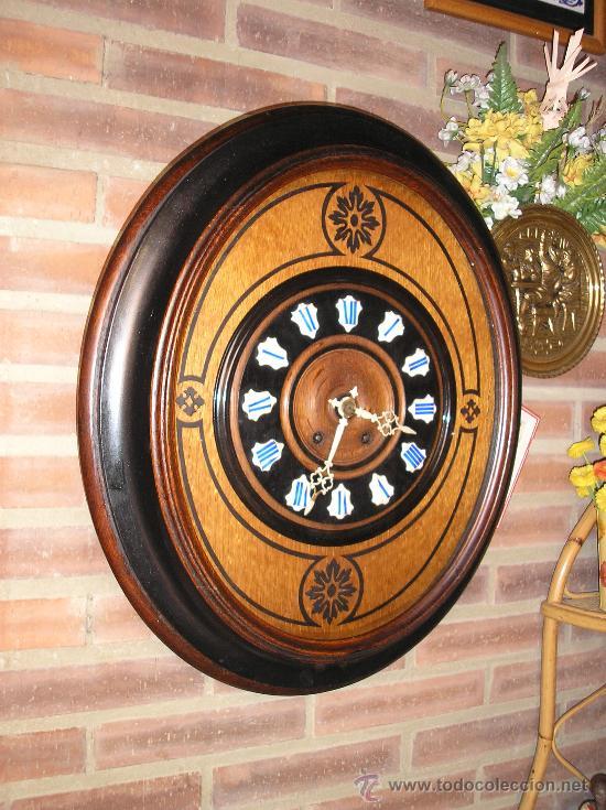 !OJO BUEY MARQUETERIA FRANCIA- AÑO 1890--EL MEJOR PRECIO (Relojes - Pared Carga Manual)