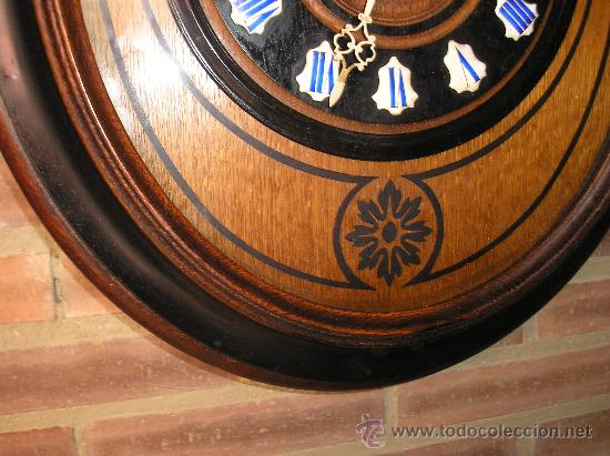 Relojes de pared: !OJO BUEY MARQUETERIA Francia- AÑO 1890--EL MEJOR PRECIO - Foto 4 - 26038415