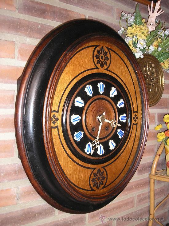 Relojes de pared: !OJO BUEY MARQUETERIA Francia- AÑO 1890--EL MEJOR PRECIO - Foto 5 - 26038415
