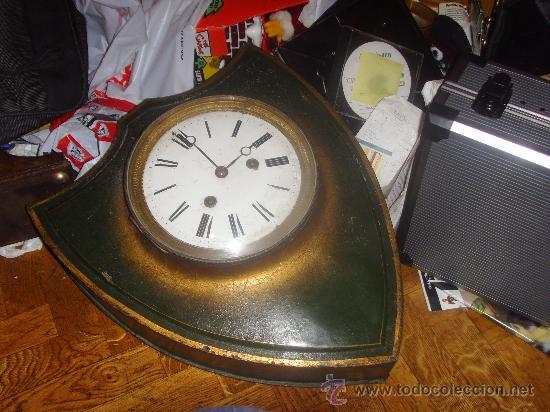 Gran reloj frances de metal con pintura de epo comprar - Reloj gigante pared ...