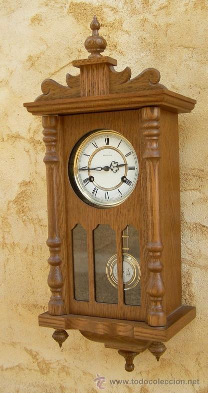 Reloj de pared antiguo marca ducena con soneria comprar relojes antiguos de pared carga manual - Relojes pared antiguos ...