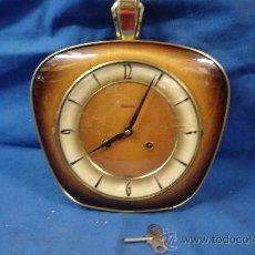 Relógios de parede: -RELOJ DE PARED MARCA HERMLE DISEÑO VANGUARDISTA CON SONERIA - MADE IN GERMANY AÑOS 50 - FUNCIONA. Lote 27032286