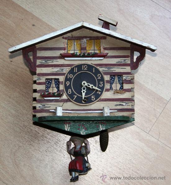 ANTIGUO RELOJ SELVA NEGRA (PRECISA RESTAURACION) (Relojes - Pared Carga Manual)