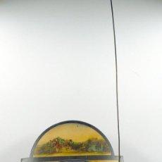 Relojes de pared: RELOJ TIPO RATERA DE UNA CAMPANA CON ESFERA DE MADERA Y PÉNDULO DE METAL, .. Lote 28372098