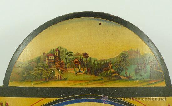 Relojes de pared: Reloj tipo ratera de una campana con esfera de madera y péndulo de metal, . - Foto 5 - 28372098