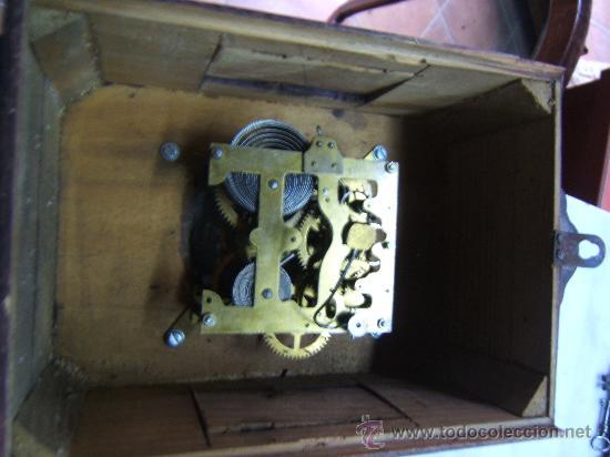 ANTIGUO RELOJ PARED MADERA (Relojes - Pared Carga Manual)