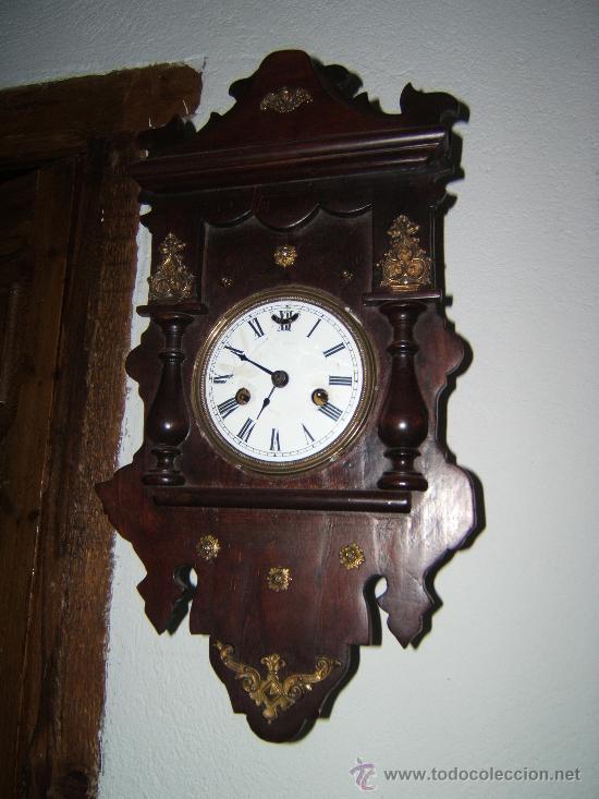 Relojes de pared: antiguo reloj pared madera - Foto 2 - 28673221