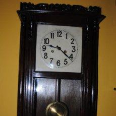 Relojes de pared: GRAN RELOJ DE PARED FUNCIONANDO. Lote 29367321