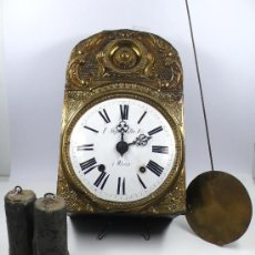 Relojes de pared: RELOJ MOREZ DE UNA CAMPANA CON PESAS Y PÉNDULO, .. Lote 30106617