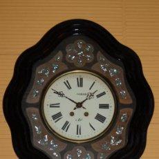 Relojes de pared: RELOJ ISABELINO CON MUCHA MARQUETERIA. Lote 30327069