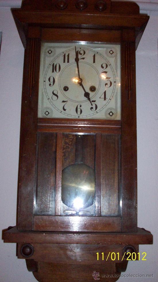 Antiguo reloj de pared de pendulo comprar relojes for Relojes de pared antiguos de pendulo