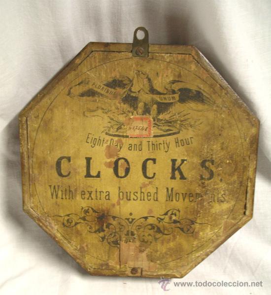 Relojes de pared: Reloj pared Americano 8 dias cuerda, funciona. Med. 24 x 24 x 8 cm - Foto 2 - 50296924
