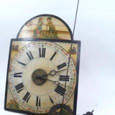 Relojes de pared: RELOJ TIPO RATERA S.XIX DE UNA CAMPANA, CON PESAS Y PÉNDULO.. Lote 30770095