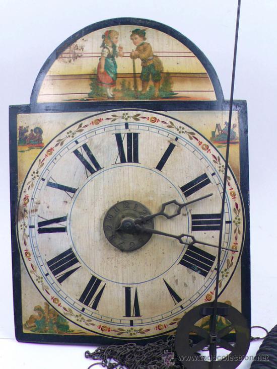 Relojes de pared: Reloj tipo ratera s.XIX de una campana, con pesas y péndulo. . - Foto 7 - 30770095