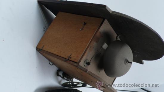Relojes de pared: Reloj tipo ratera s.XIX de una campana, con pesas y péndulo. . - Foto 2 - 30770095
