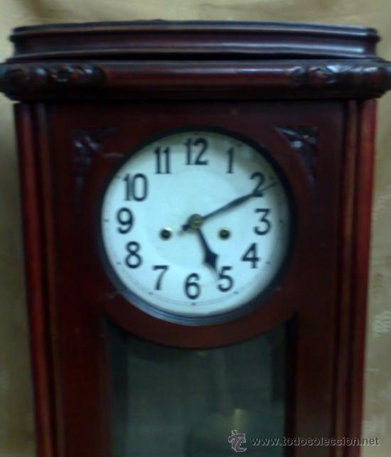 Relojes de pared: SIGLO XIX-XX .- RELOJ DE PARED ALFONSINO - Foto 4 - 30793659