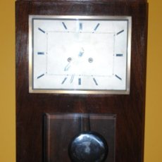 Relojes de pared: RELOJ DE PARED UNION RELOJERA SUIZA MADRID --- FUNCIONANDO ---. Lote 31198706