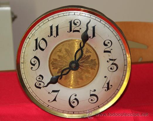 Antiguo reloj de pared de pesas con esfera de t comprar - Reloj grande de pared ...