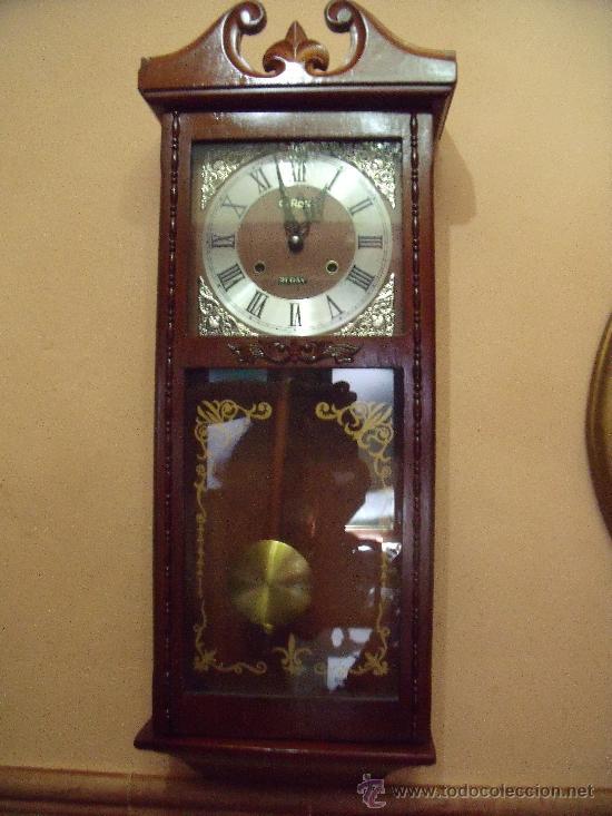 Elegante reloj de pared a cuerda marca otron 31 vendido - Relojes rusticos de pared ...