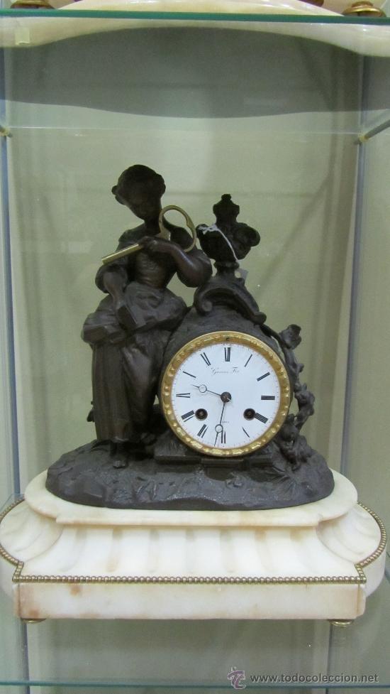 RELOJ FRANCÉS TIPO PARÍS SIGLO XIX. (Relojes - Pared Carga Manual)