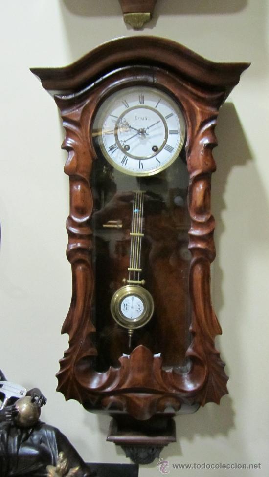 RELOJ ALEMAN FINALES XIX. (Relojes - Pared Carga Manual)