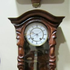 Relojes de pared: RELOJ ALEMAN FINALES XIX.. Lote 33923322
