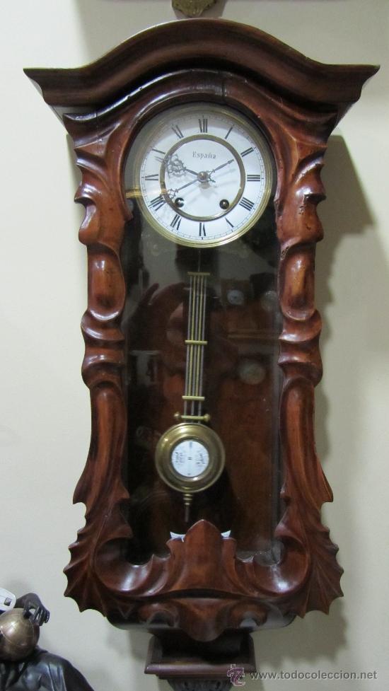 Relojes de pared: RELOJ ALEMAN FINALES XIX. - Foto 4 - 33923322
