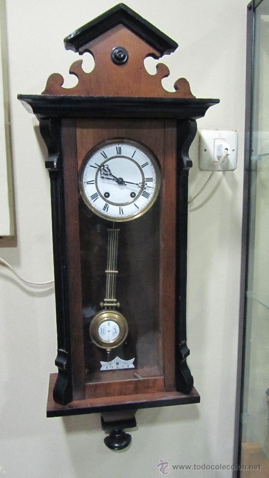 RELOJ ALEMÁN TIPO ISABELINO SIGLO .XIX (Relojes - Pared Carga Manual)