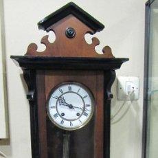 Relojes de pared: RELOJ ALEMÁN TIPO ISABELINO SIGLO .XIX. Lote 33924136