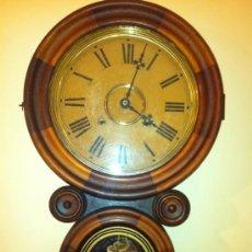 Relojes de pared: ANTIGUO RELOJ DE PARED CON PÉNDULO Y SONERÍA - INGRAHAM -1871 - ORIGINAL AMERICANO. Lote 33953032