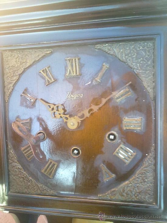 Relojes de pared: RELOJ DE PARED MARCA URGOS AÑOS 20 ALEMÁN ((((MUY RARO))) - Foto 2 - 34597273