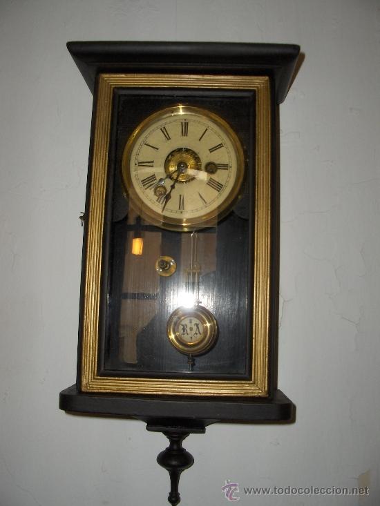 RELOJ DE PARED ANTIGUO ALTO 43 ANCHO 21 FONDO 11 (Relojes - Pared Carga Manual)