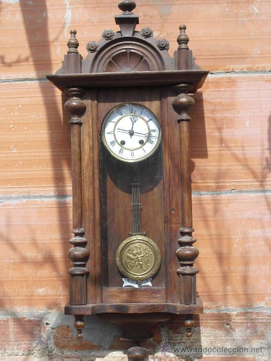 Antiguo reloj de pared isabelino esfera porcel comprar for Reloj de pared antiguo