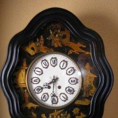 Relojes de pared: ¡¡ RELOJ DE COLECCIÓN UNICO !! OJO BUEY DECORADO A MANO JAPONESAS-MAQUINARIA PARÍS- AÑO 1880. Lote 36347066