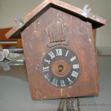 Relojes de pared: ANTIGUO RELOJ DE CUCO CUCU ALEMAN, PARA RESTAURAR + REGALO. Lote 36454958